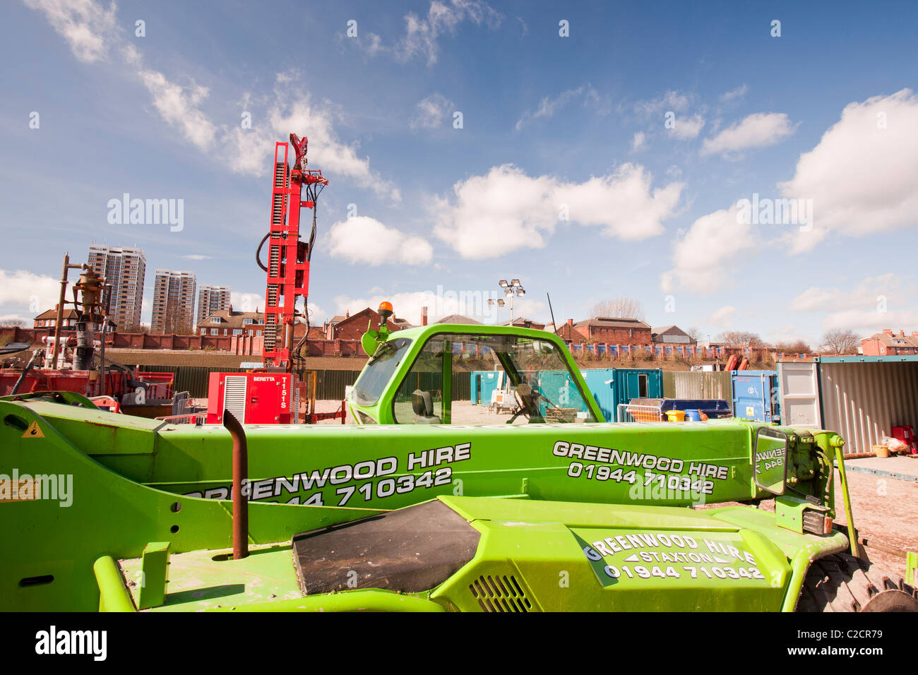 A geothermal energy project by Newcastle University, funded by the Dept of Energy and Climate Change. - Stock Image