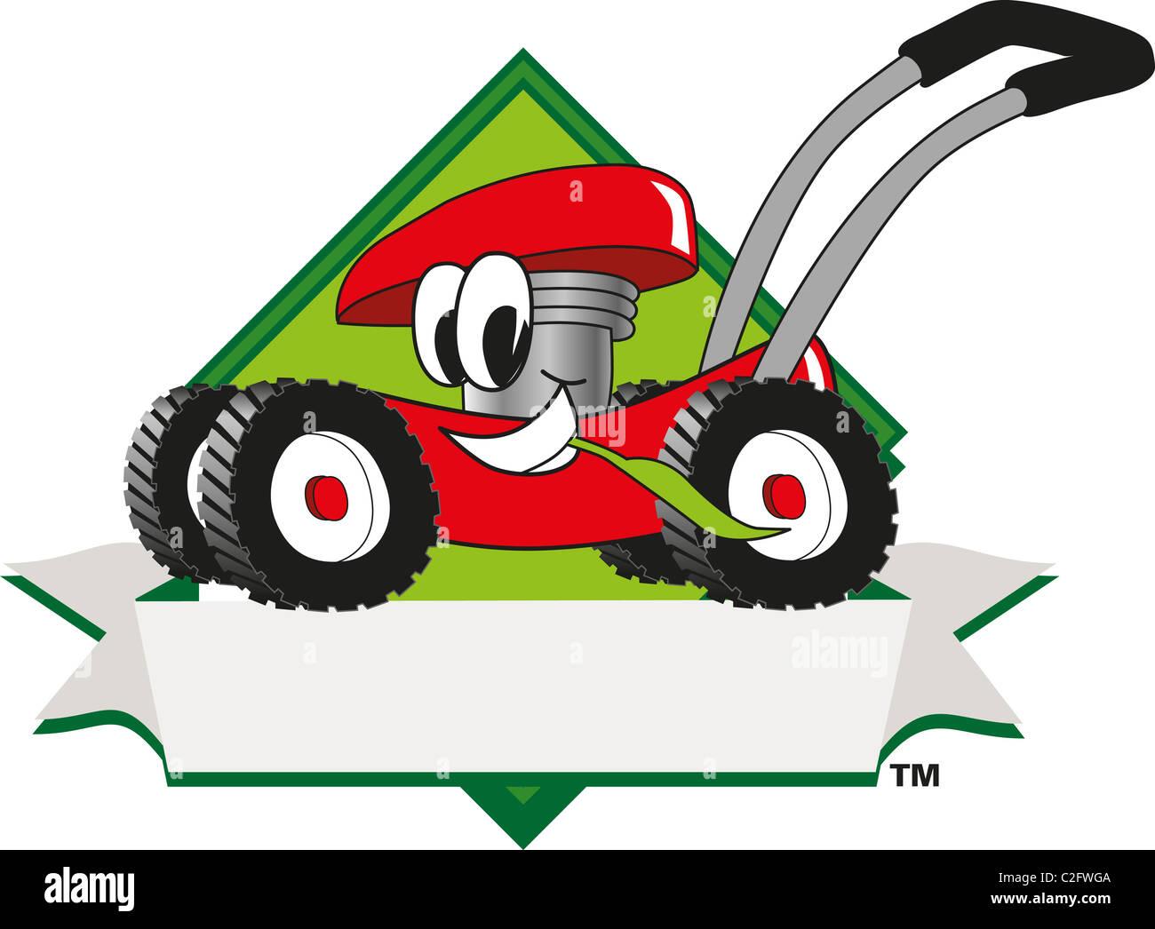 cartoon lawn mower clip art and logo template stock photo 35999386 rh alamy com Small Engine Repair Labor Rates Small Engine Repair School