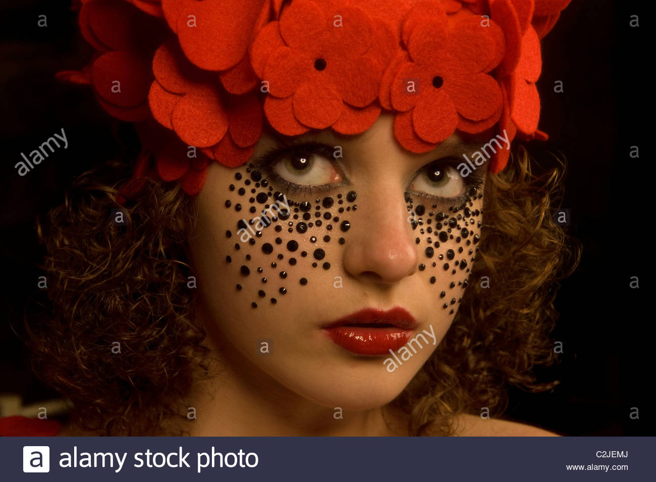 Cheeky Young Girl - Stock Image