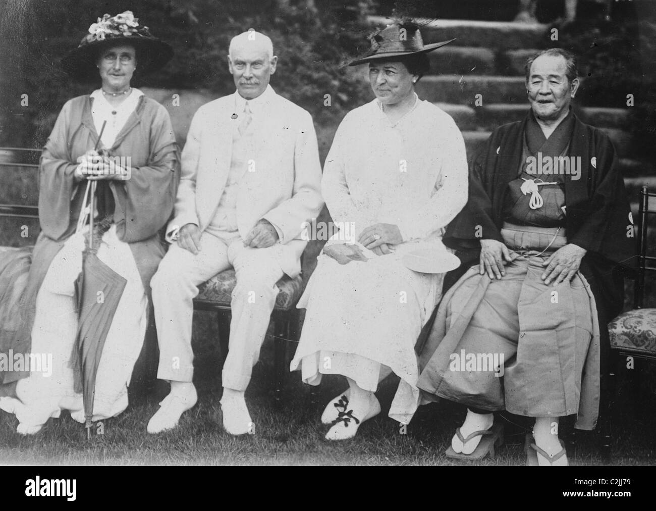 Baron Shibusawa - Japanese Financier - Stock Image