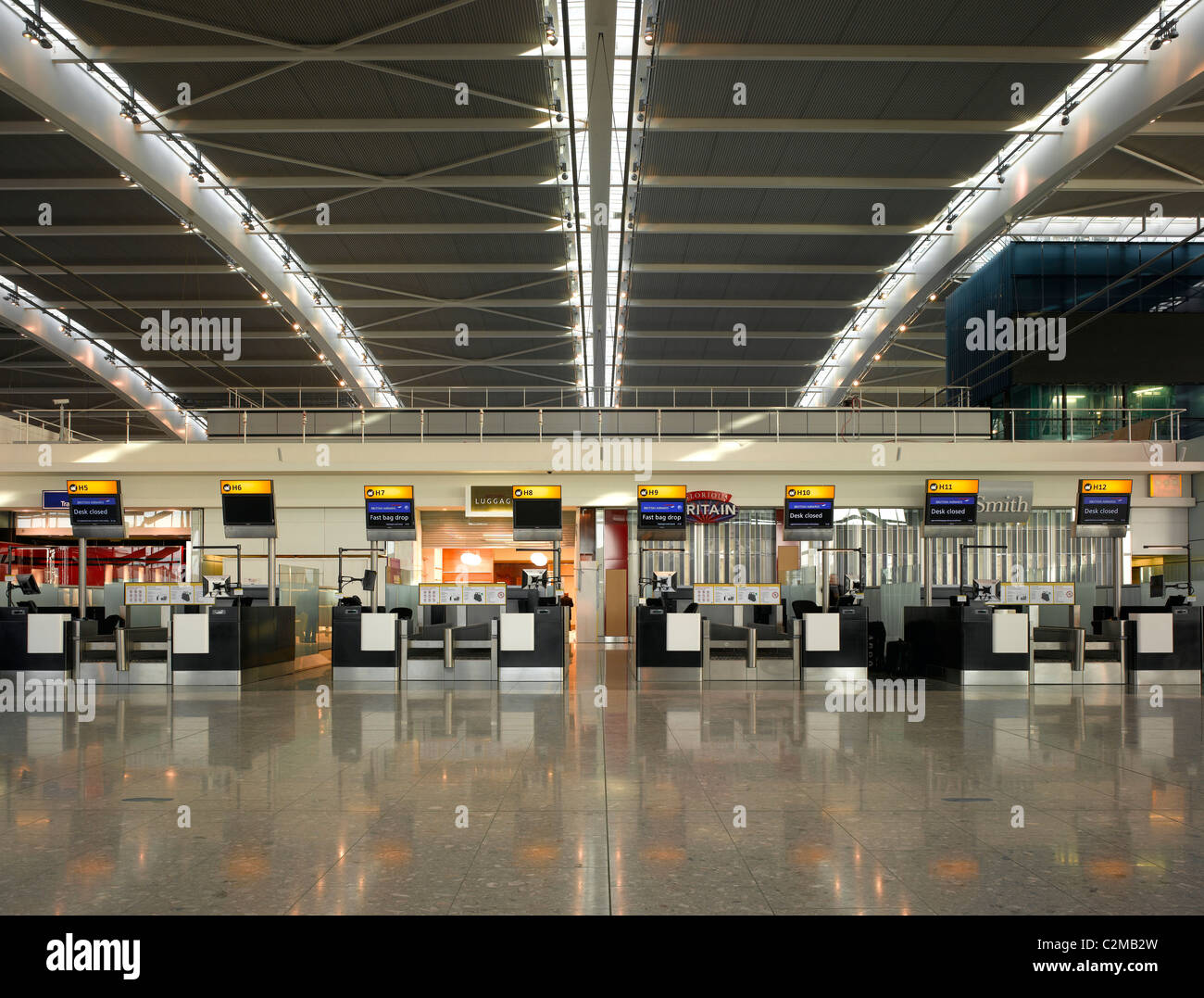 Terminal 5, Heathrow Airport, London. - Stock Image