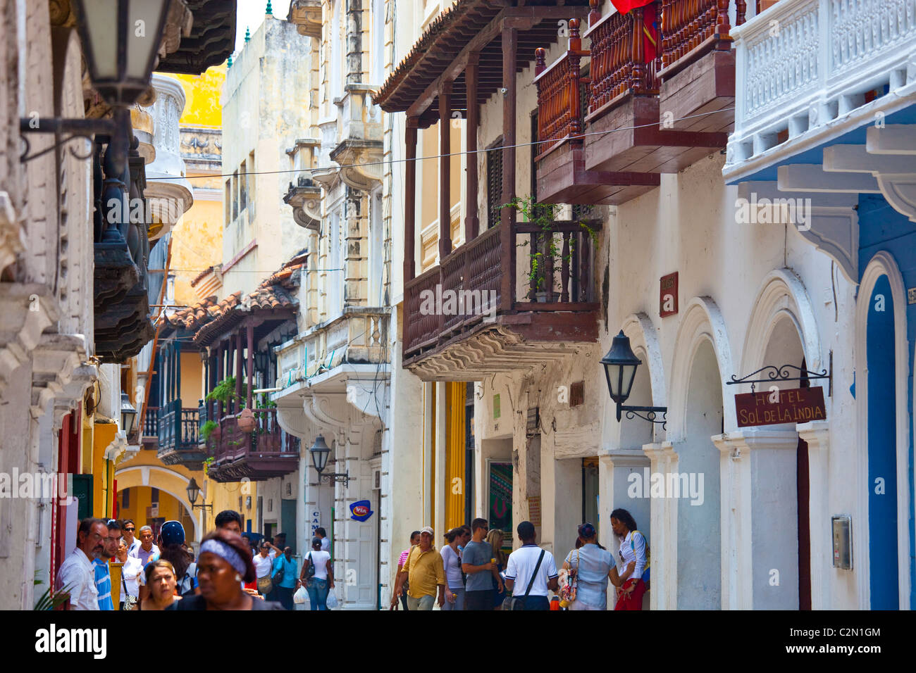 Old town, Cartagena, Colombia - Stock Image