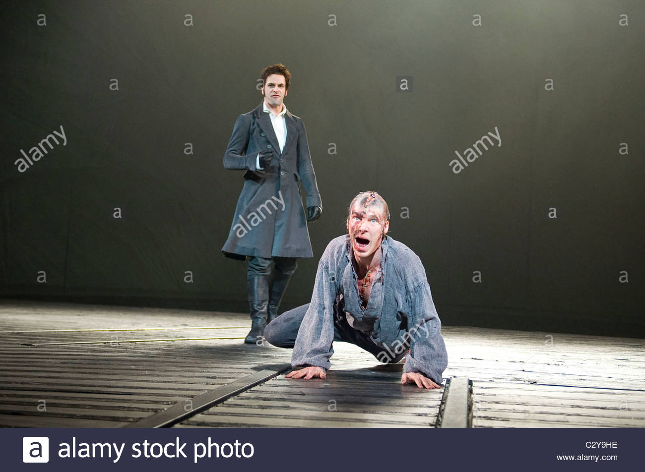 Frankenstein by Nick Dear based on the novel by Mary Shelly directed by Danny Boyle Stock Photo