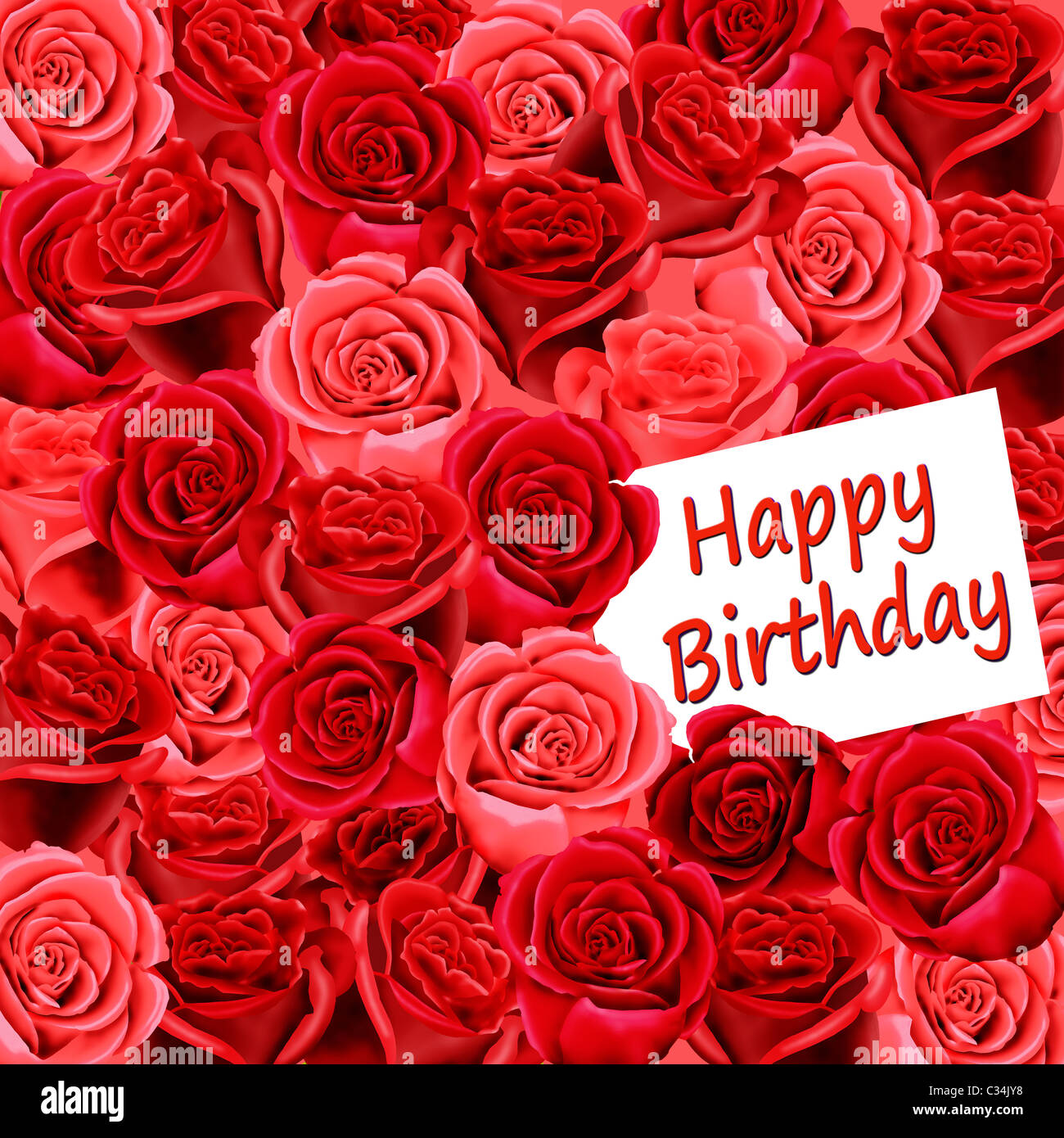 Birthday card with roses and happy birthday stock photo 36367388 birthday card with roses and happy birthday izmirmasajfo Image collections