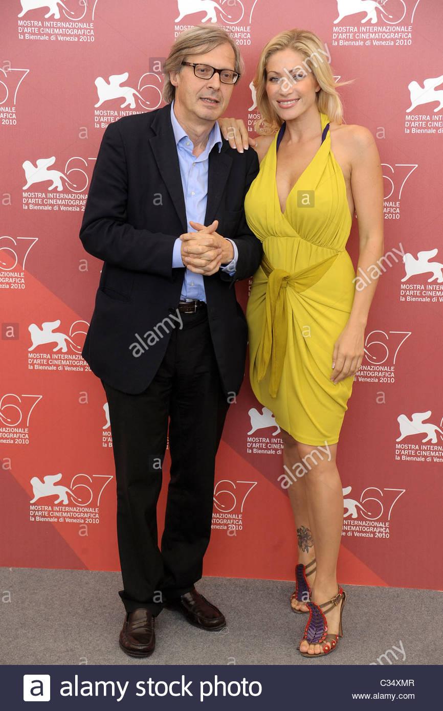 vittorio sgarbi, vittoria risi, 67th international venice film festival - Stock Image