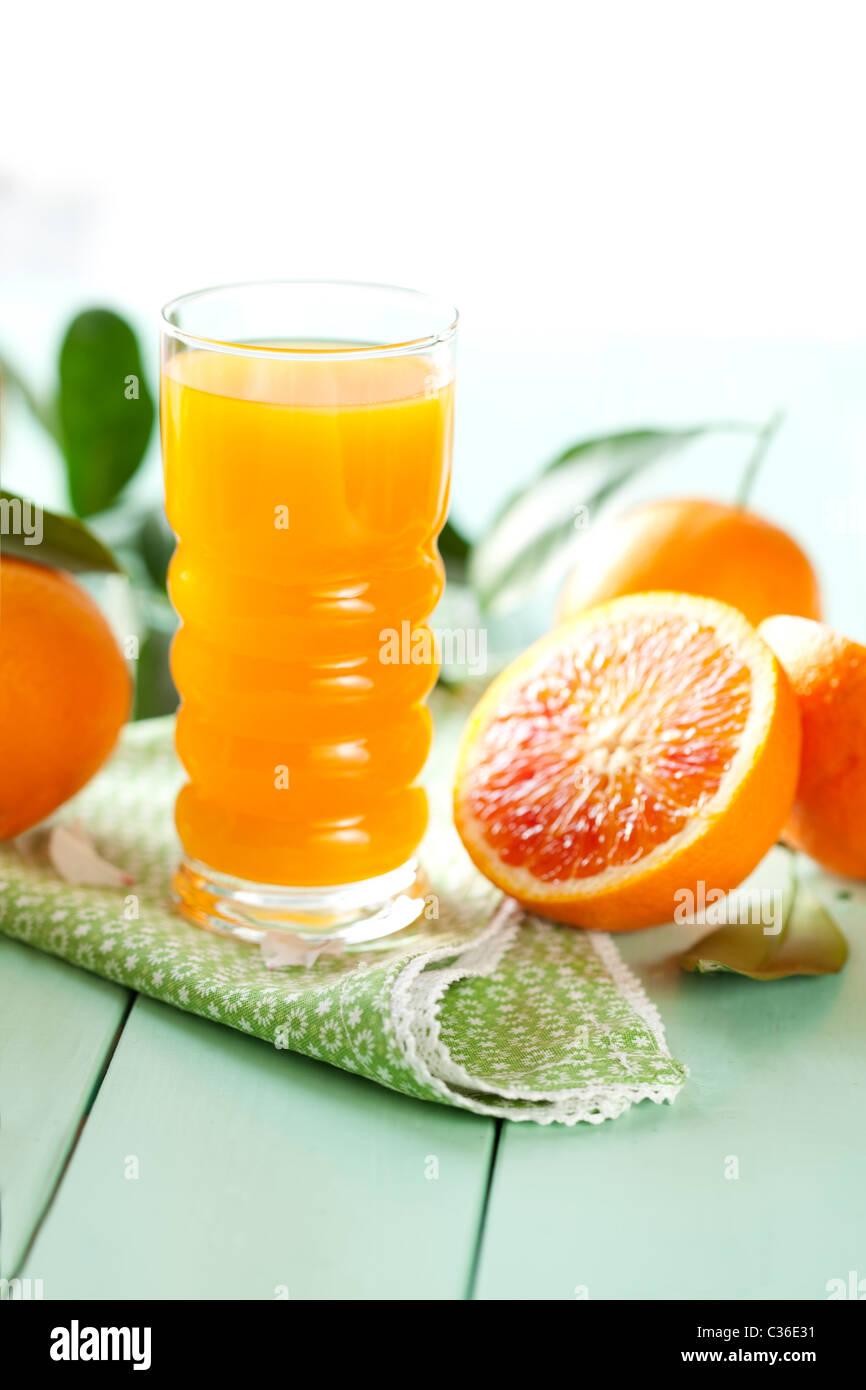 fresh orange juice - Stock Image