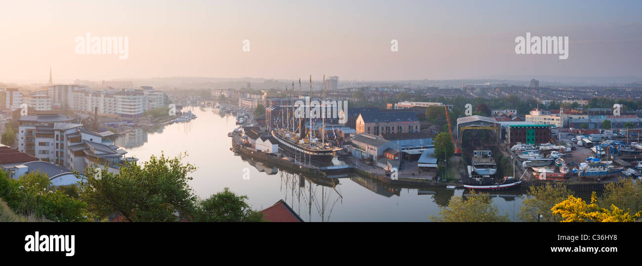 Bristol Floating Harbour and the SS Great Britain. Bristol. England. UK. - Stock Image