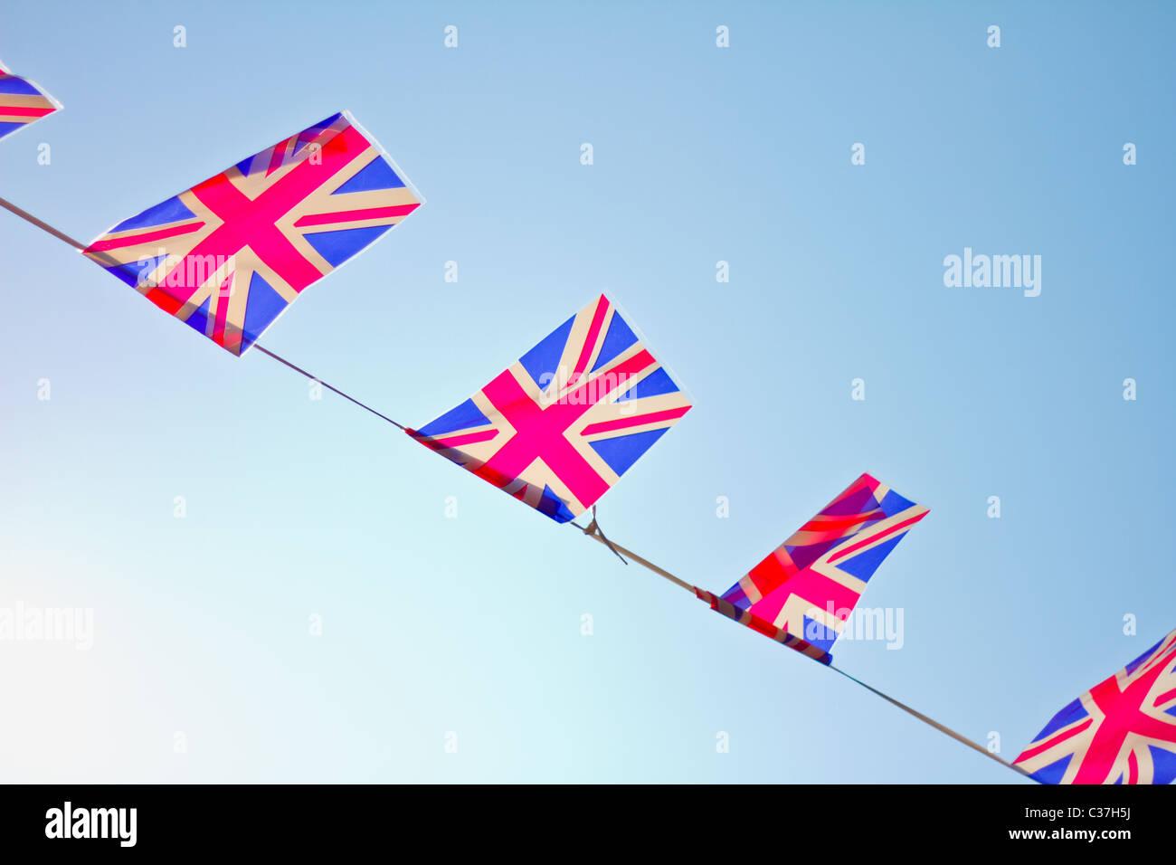 Great Britain flag bunting. - Stock Image