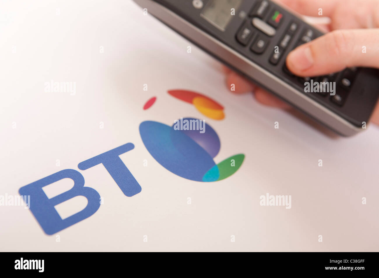 Figurative image of the BT Group. Stock Photo