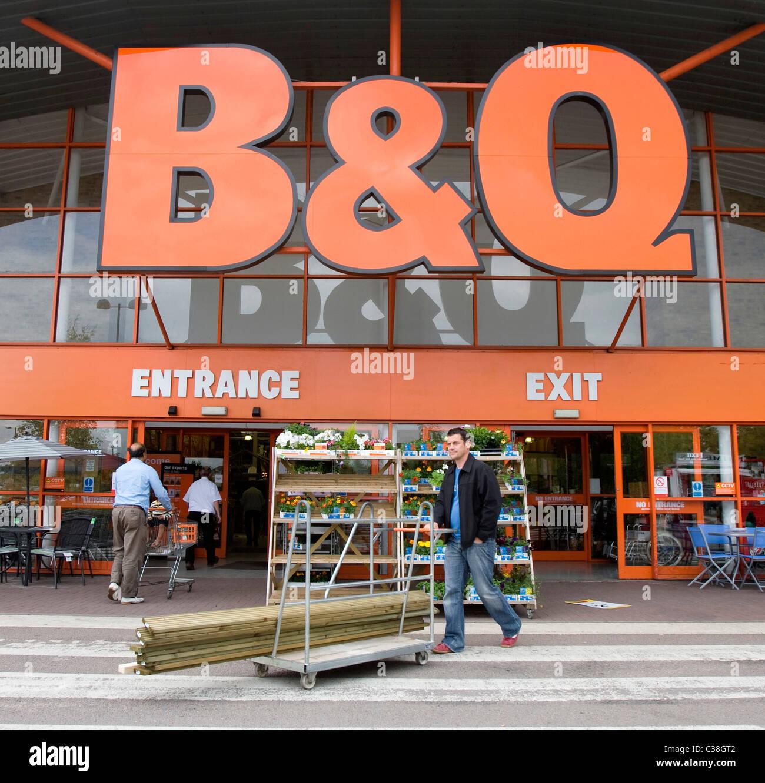 External shot of a B&Q store.Stock Photo
