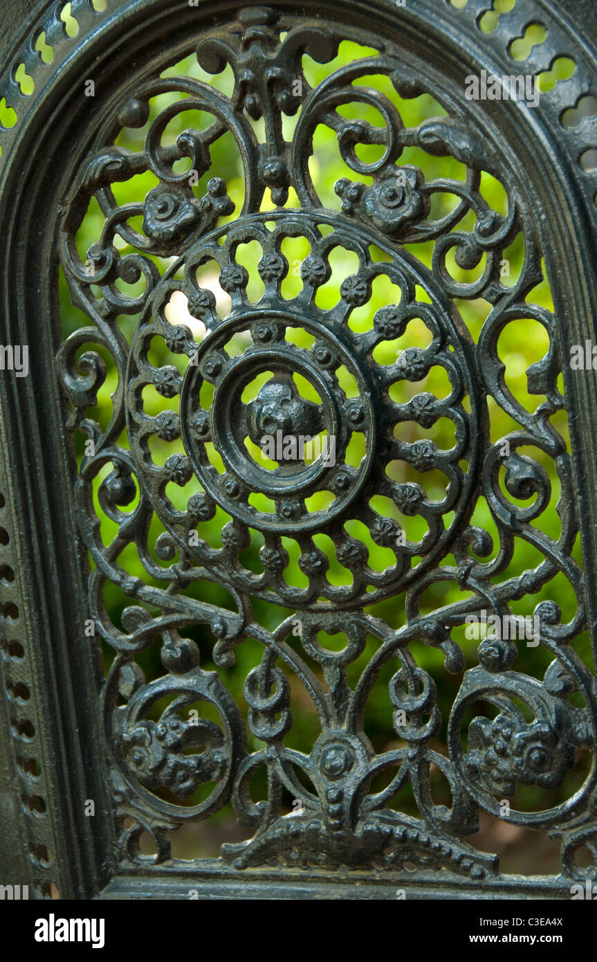 Etonnant Typical Decorative Wrought Iron Garden Gate.