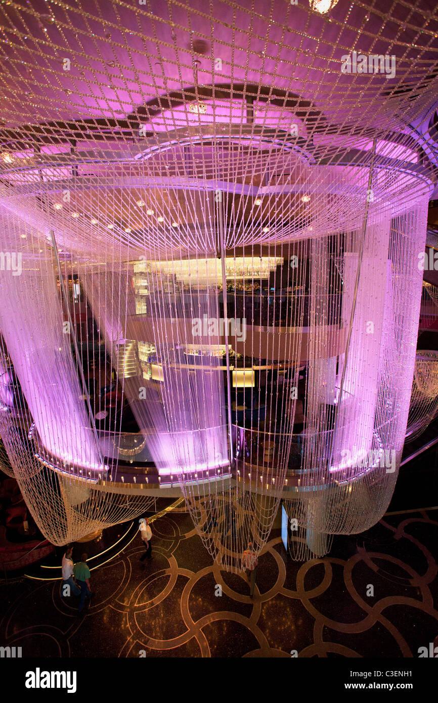Chandelier Bar In The Cosmopolitan Las Vegas Nevada