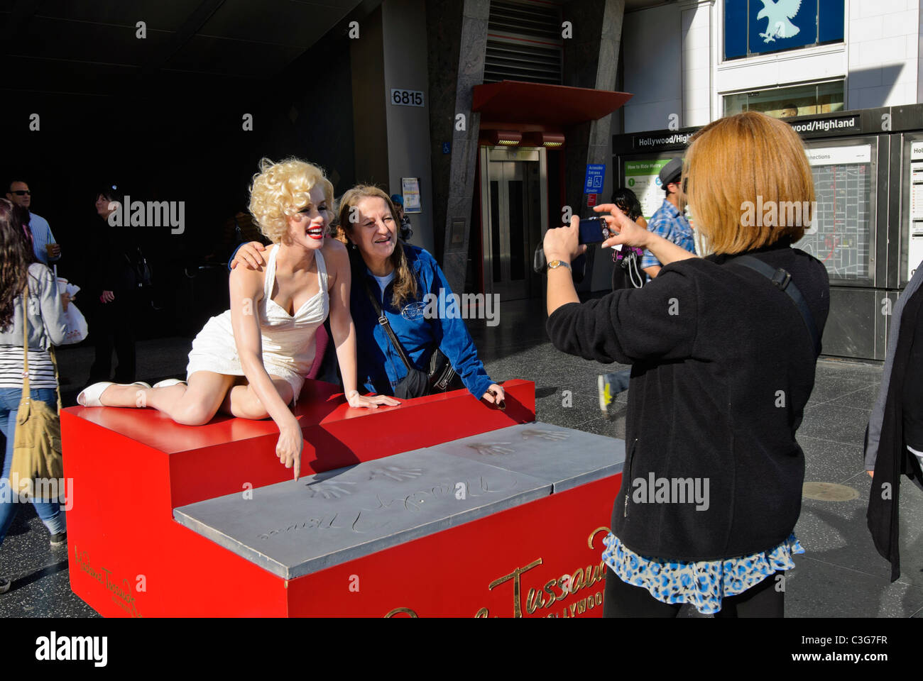 Marilyn Monroe Wax Figure from Madame Tussauds. - Stock Image