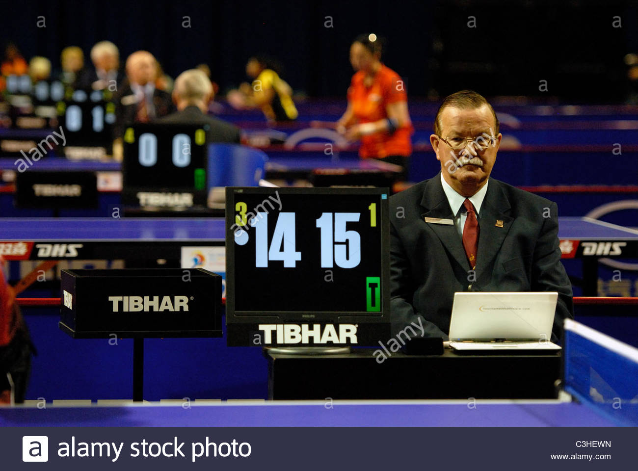 Rotterdam The Netherlands 10-5-2011 World Cup Table Tennis. Umpire - Stock Image