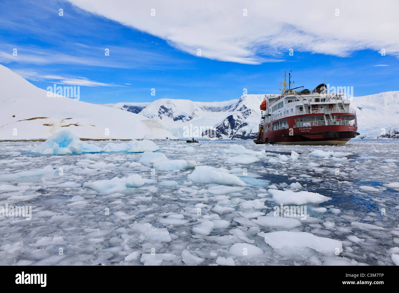 South Atlantic Ocean Antarctica Antarctic Peninsula Gerlache Strait, Neko Harbour. Polar star icebreaker cruise - Stock Image