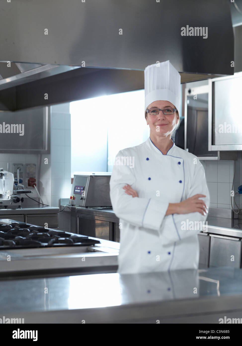Proud Head Chef standing in his Restaurant Stock Photo: 36730713 - Alamy