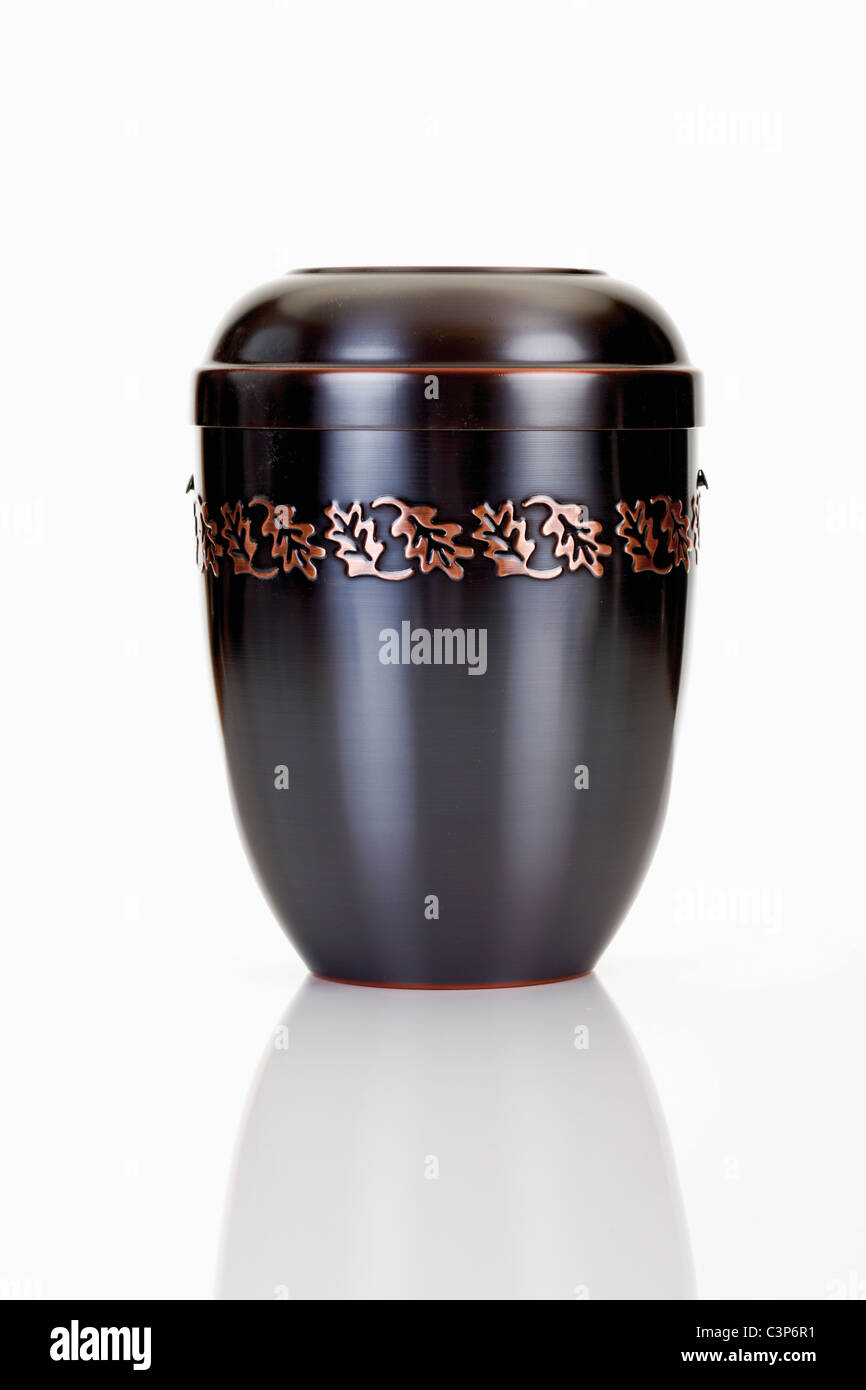 Black Cremation urnStock Photo