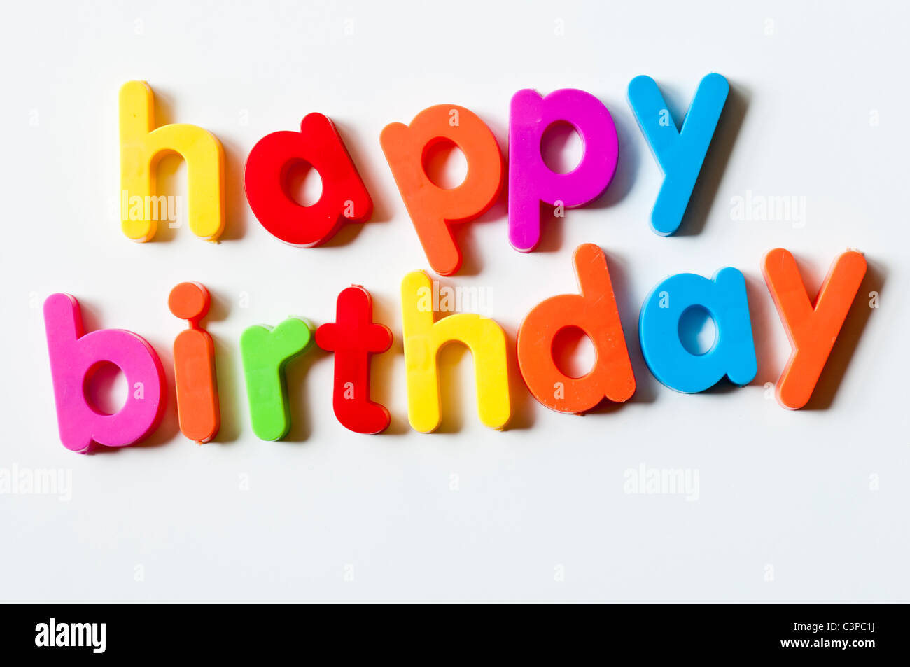 fridge magnets magnetic letters spelling out happy birthday