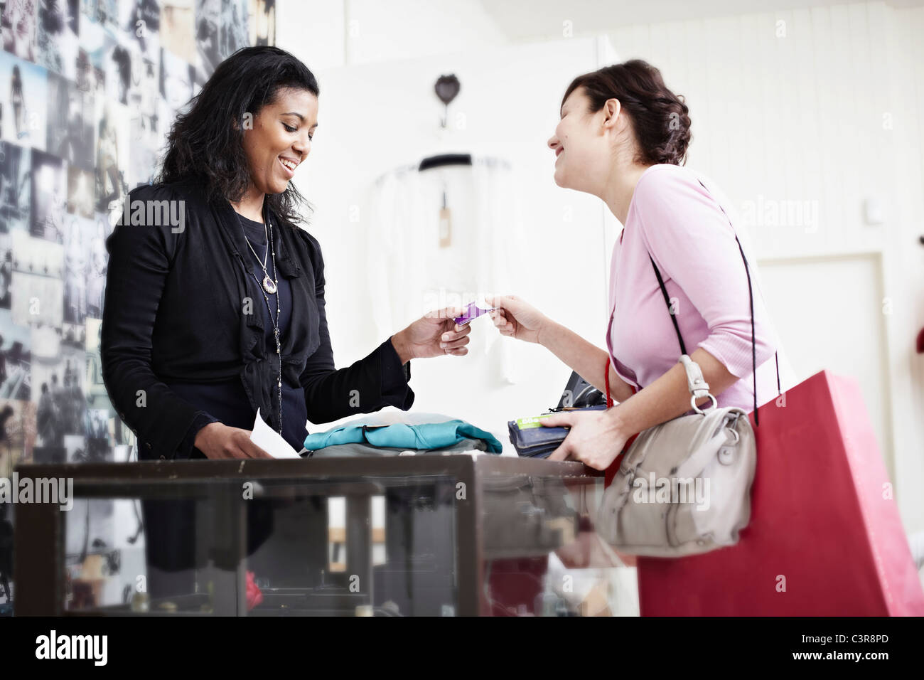Paying with a card Stock Photo