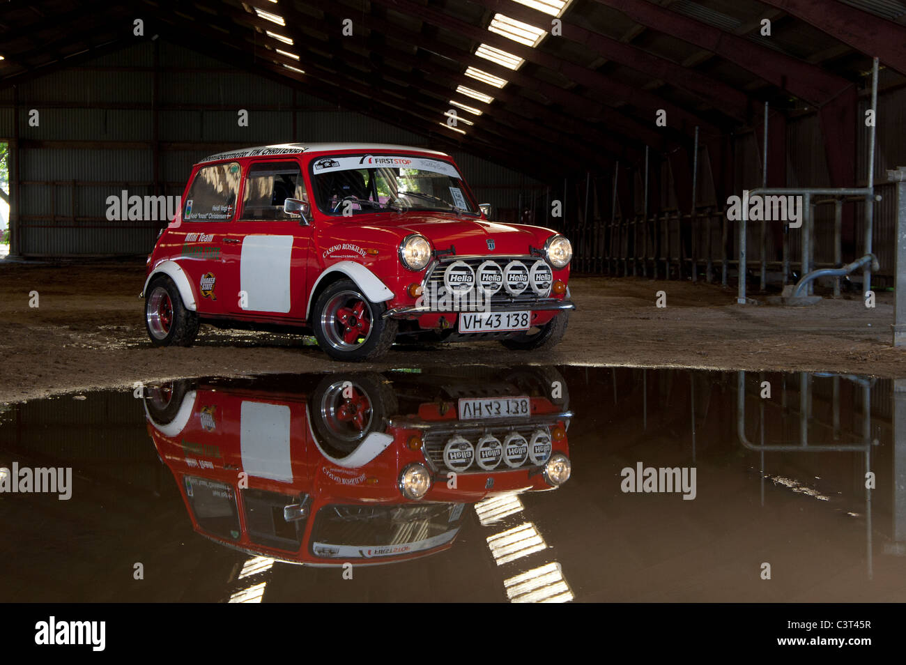 Austin Mini rally car - Stock Image