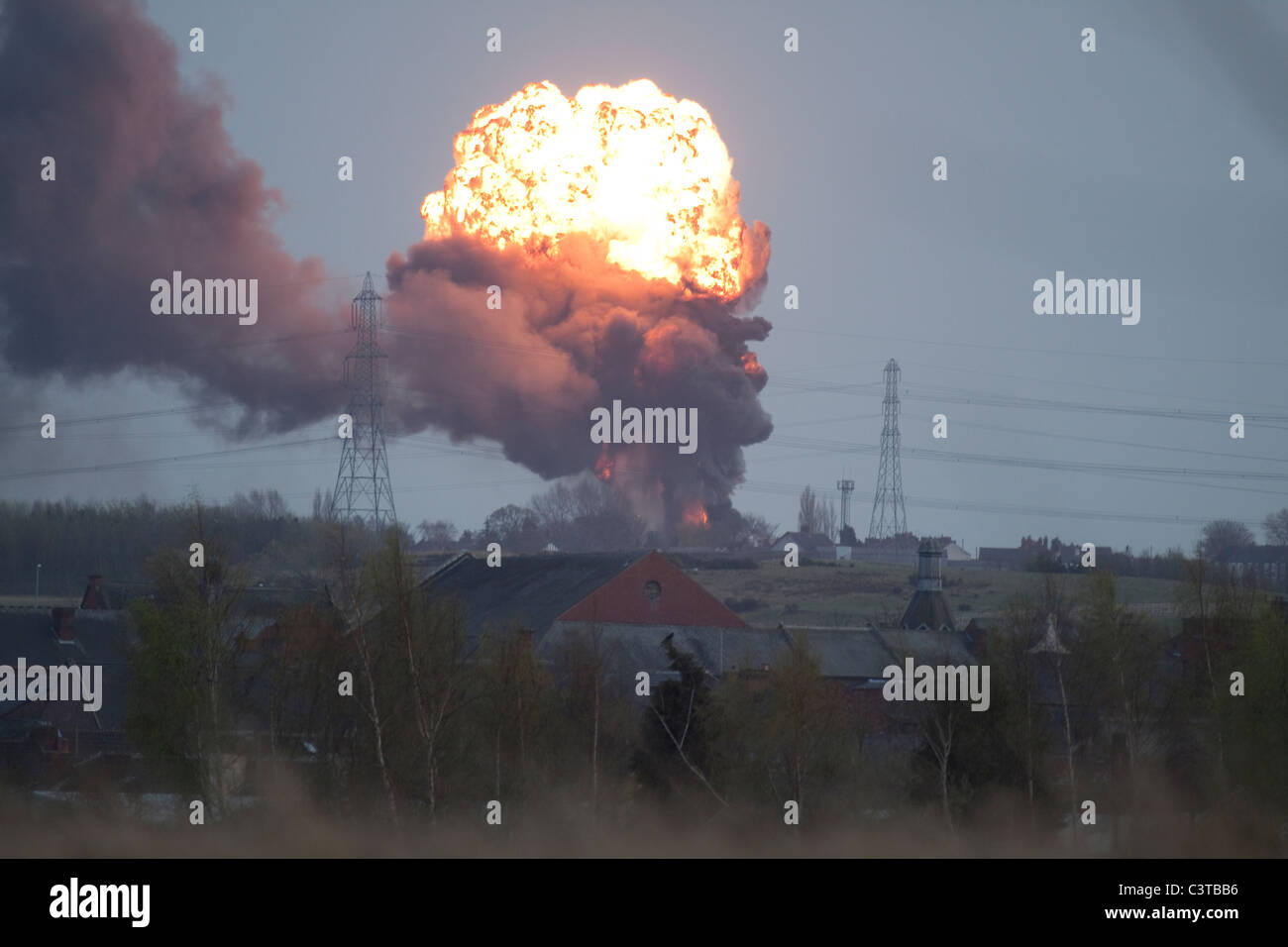 Gas Explosion - Stock Image