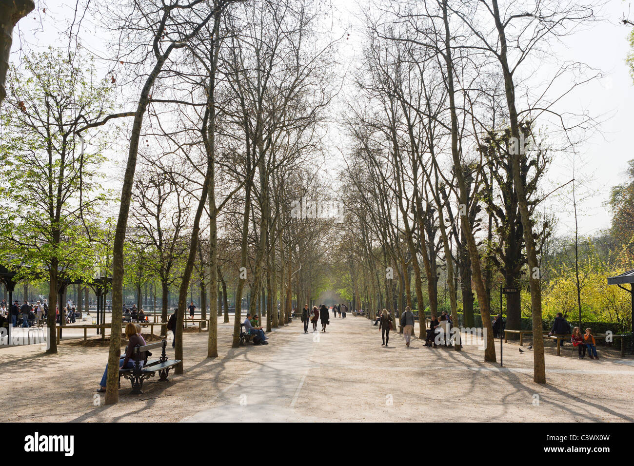 Jardin du Luxembourg in the early spring, 6th Arrondissement, Paris, France - Stock Image