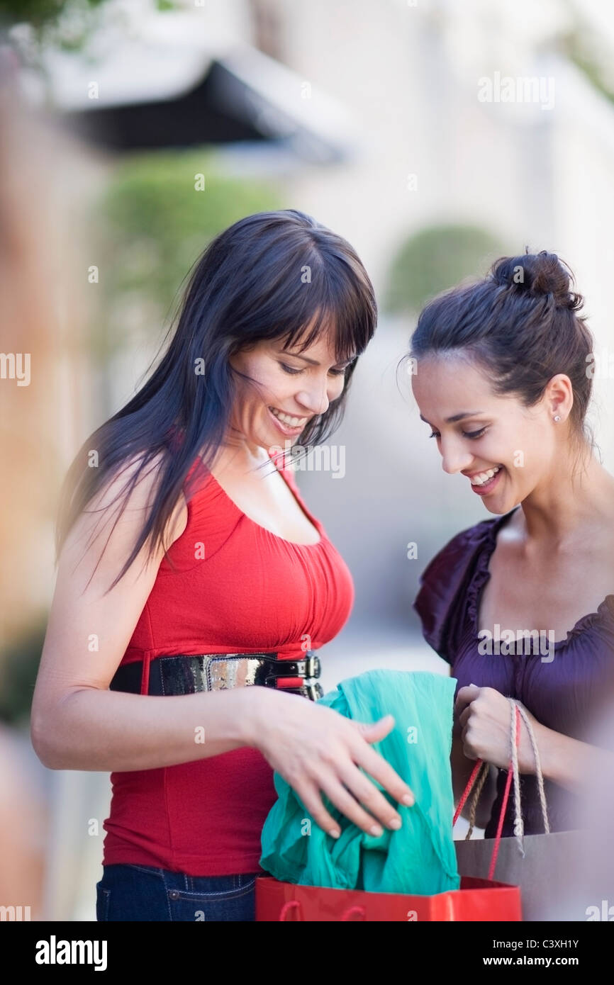 Girls on a shopping tour - Stock Image