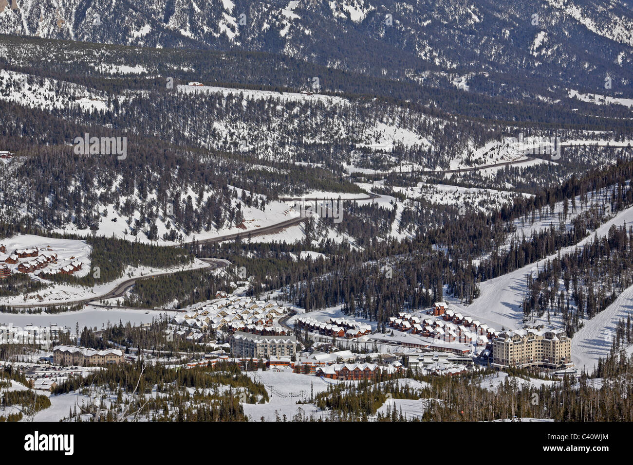 base facilities at big sky montana, one of the largest ski resorts