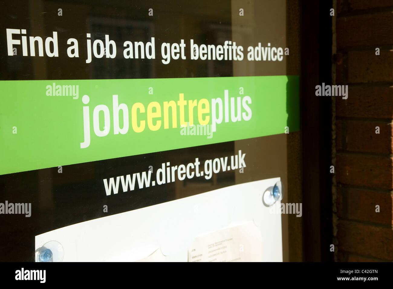 Job Centre plus office, Woodbridge, Suffolk, England Stock Photo