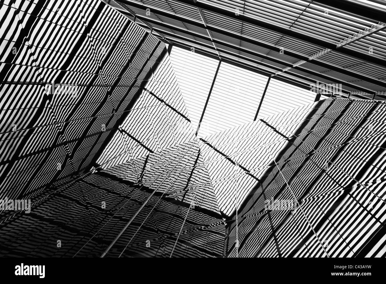Abstract Glass office buildings - Stock Image