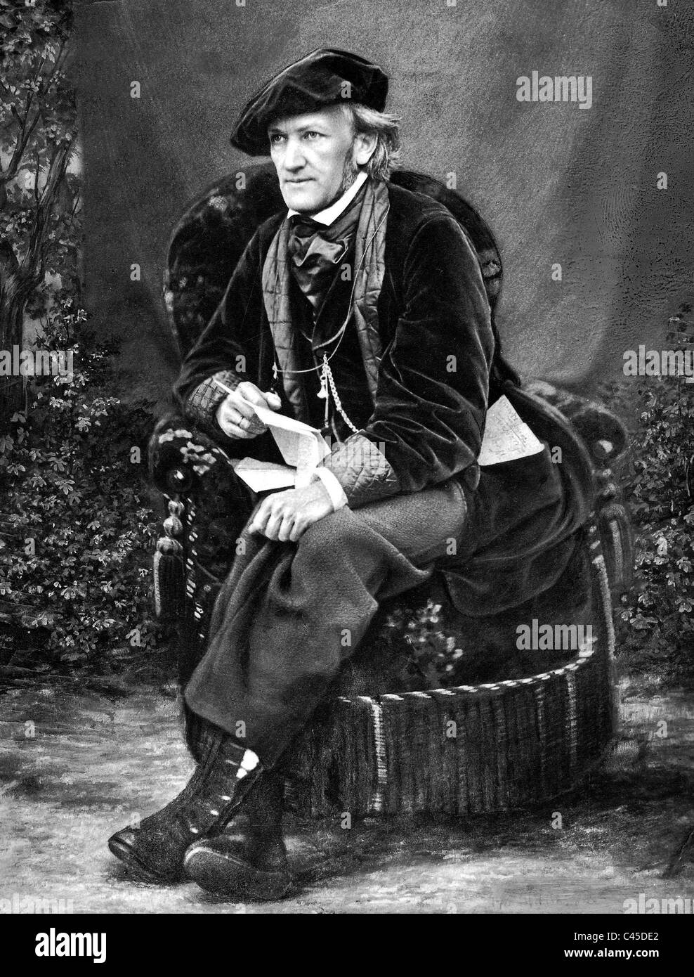 Richard Wagner, around 1870 Stock Photo