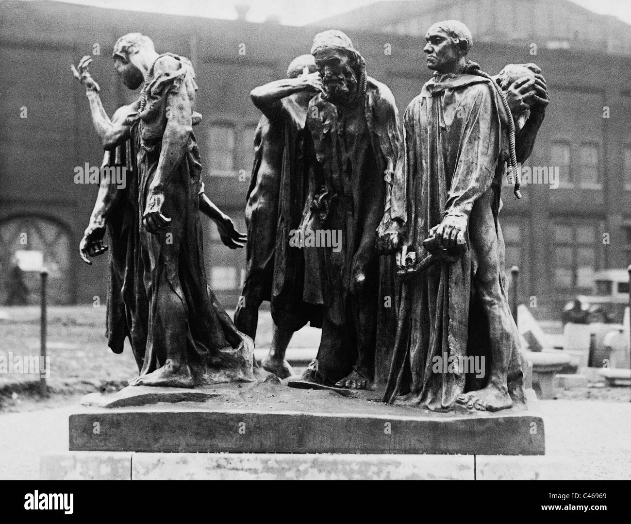 Sculpture 'The citizens of Calais' by Auguste Rodin, 1929 - Stock Image