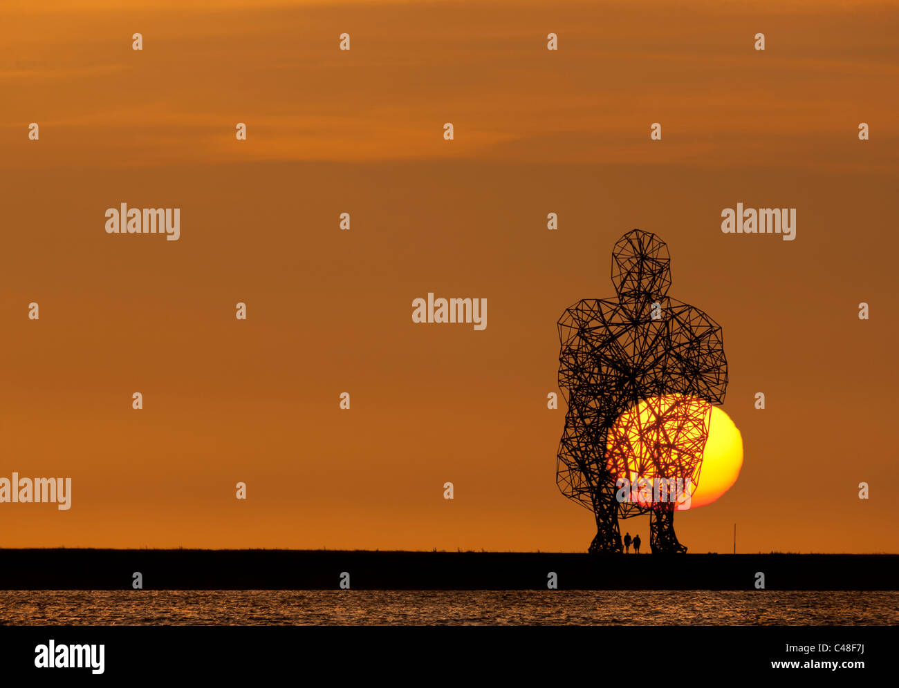 https://c7.alamy.com/comp/C48F7J/antony-gormley-exposure-with-sunset-looking-out-over-the-ijsselmeer-C48F7J.jpg