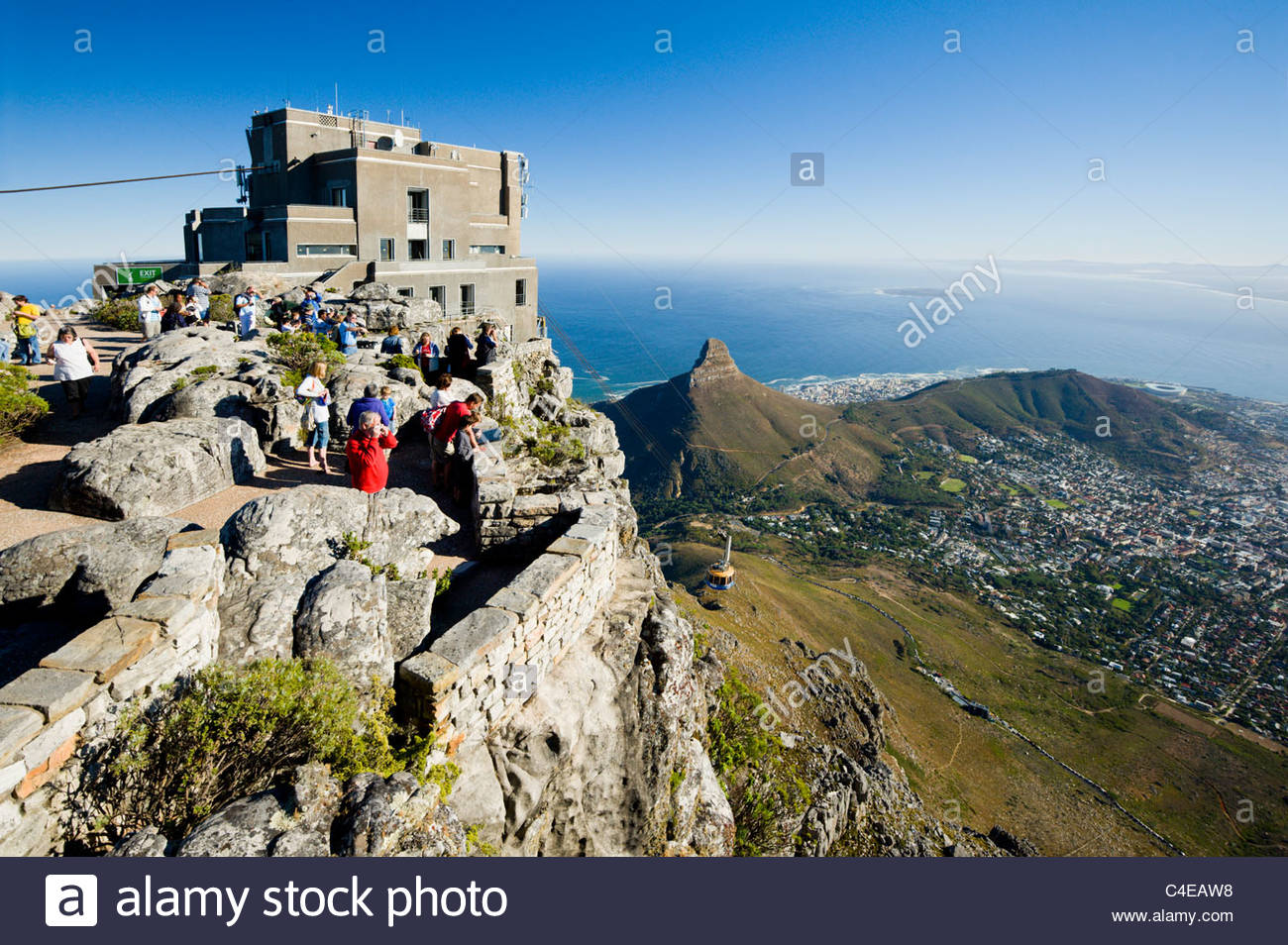 The cable car station on Table Mountain, Cape Town, South Africa - Stock Image