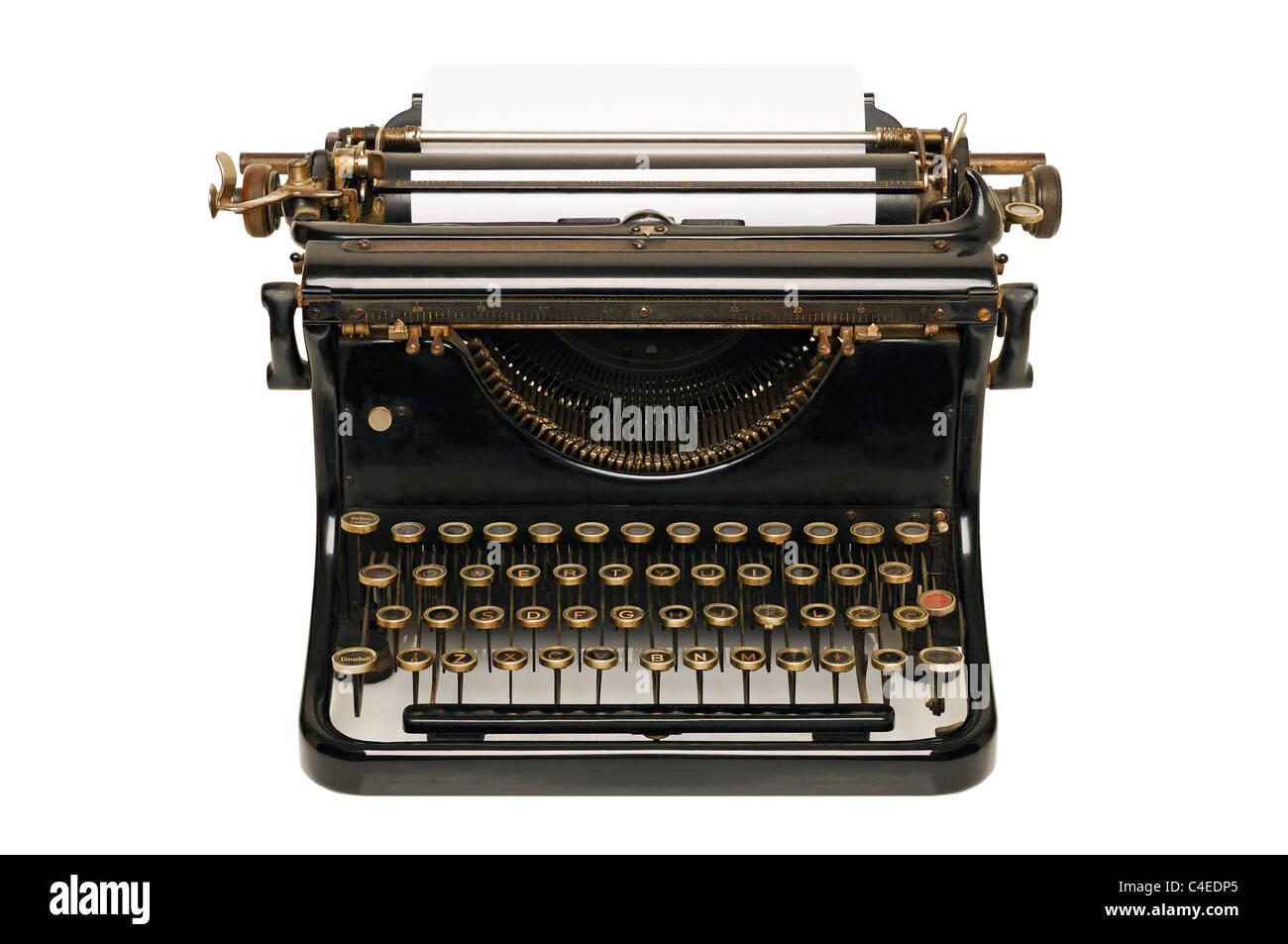 Typewriter, Cut Out. - Stock Image