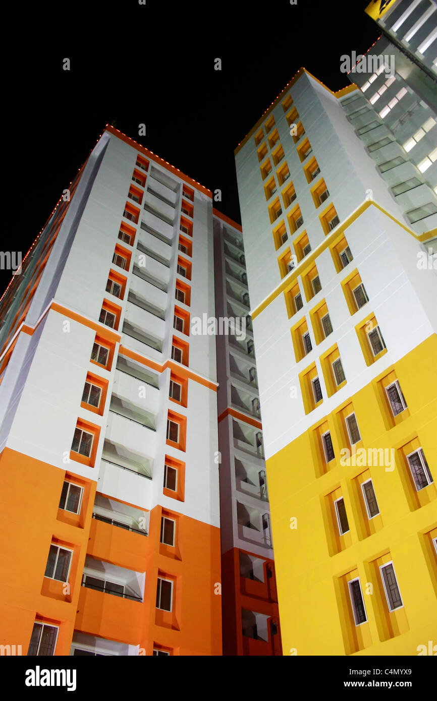 A tall building taken from wide angle - Stock Image
