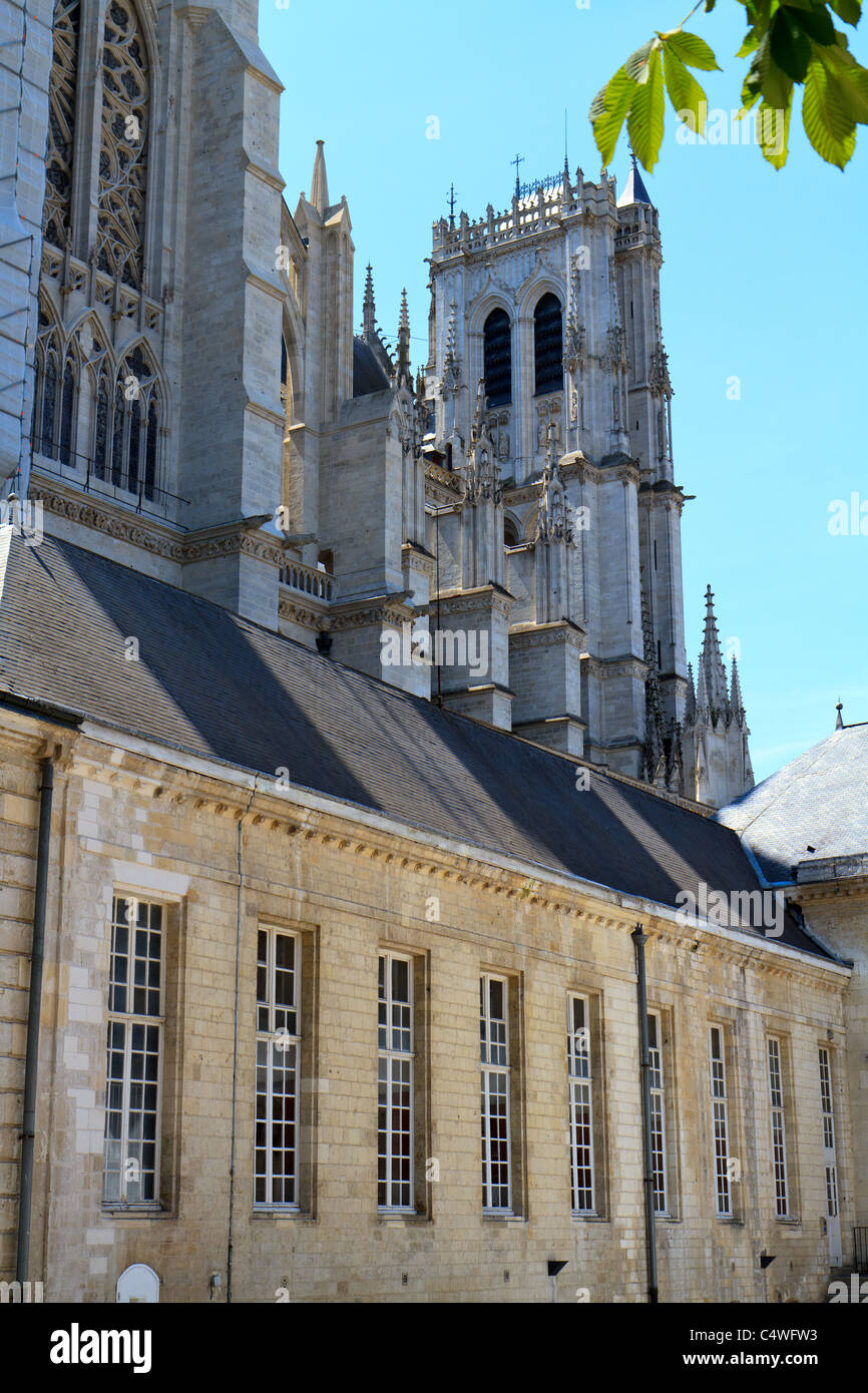 The Cathedral of Our Lady of Amiens. Cathédrale Notre-Dame d'Amiens. Amiens Cathedral - Stock Image
