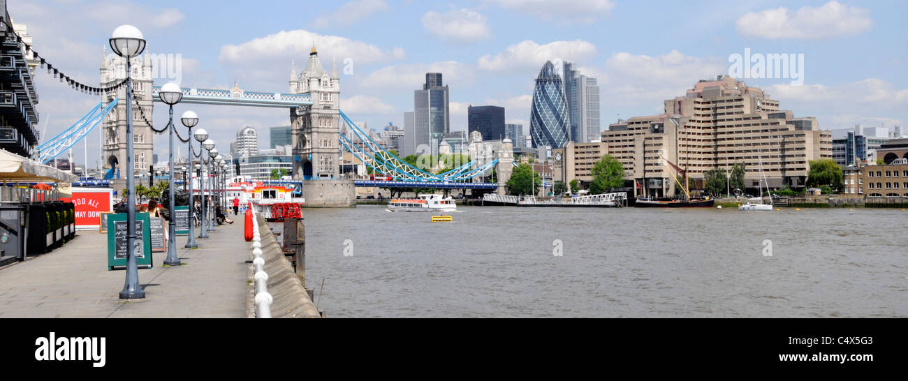 Tower Bridge River Thames and City of London skyline with the Guoman Tower Hotel - Stock Image