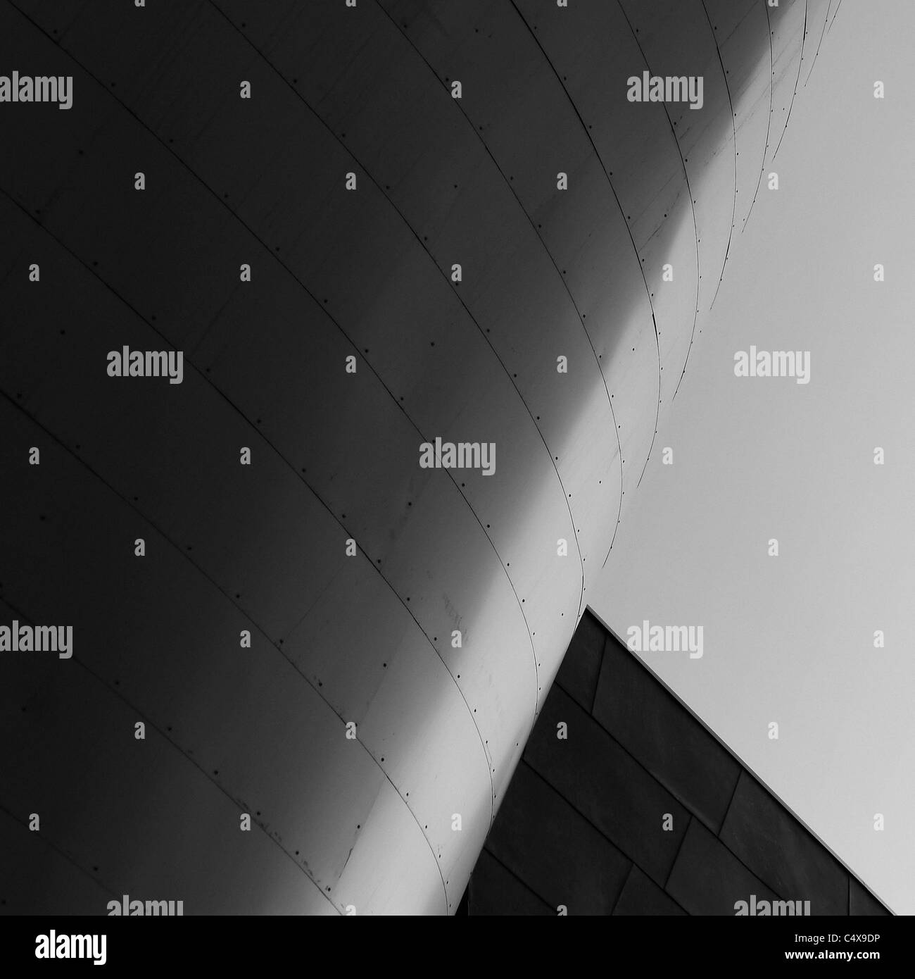 Contemporary Steel Architectural Detail. - Stock Image