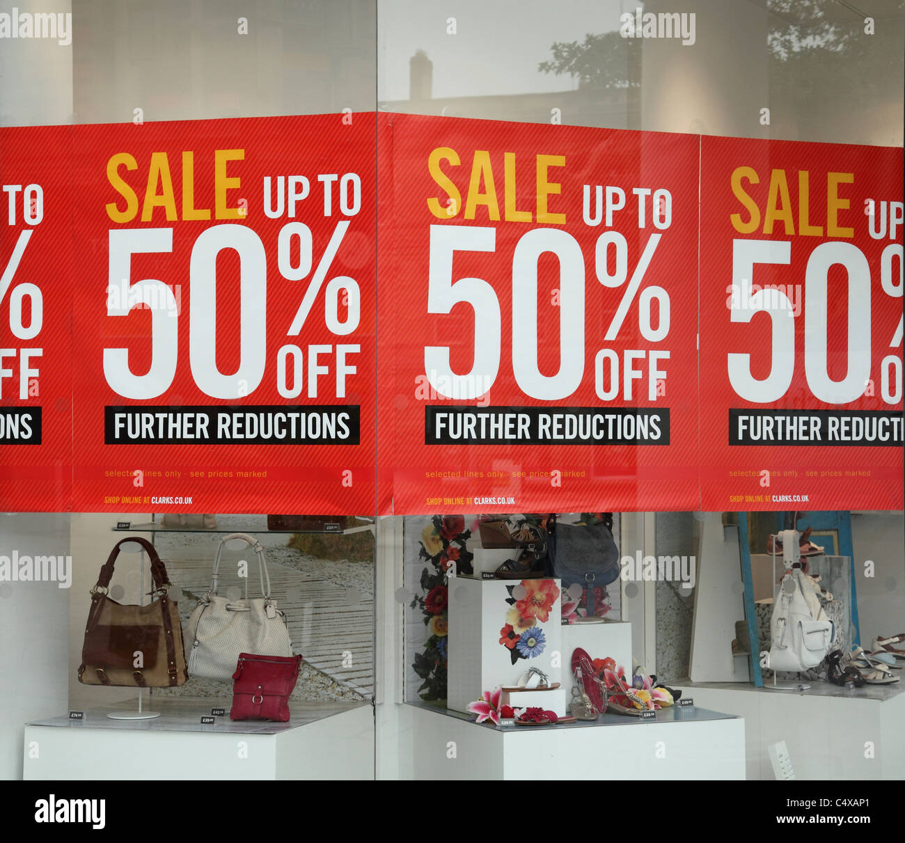 A sale at a Clarks shoe shop in Nottingham, England, U.K. - Stock Image