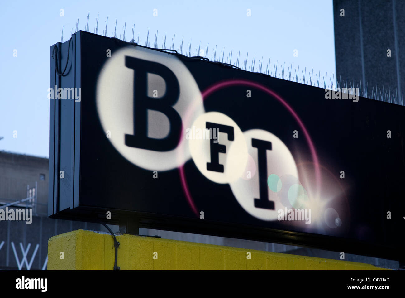 British Film Institute - BFI Entrance on South Bank; London; England; UK; - Stock Image