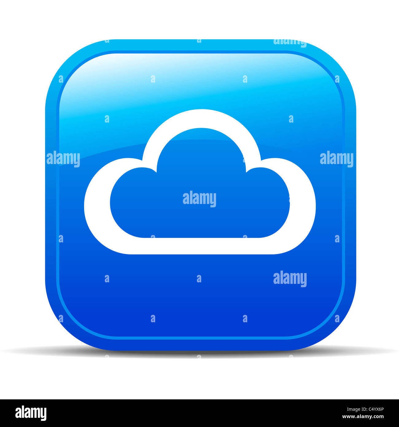 Cloud Computing Internet button Icon - Stock Image