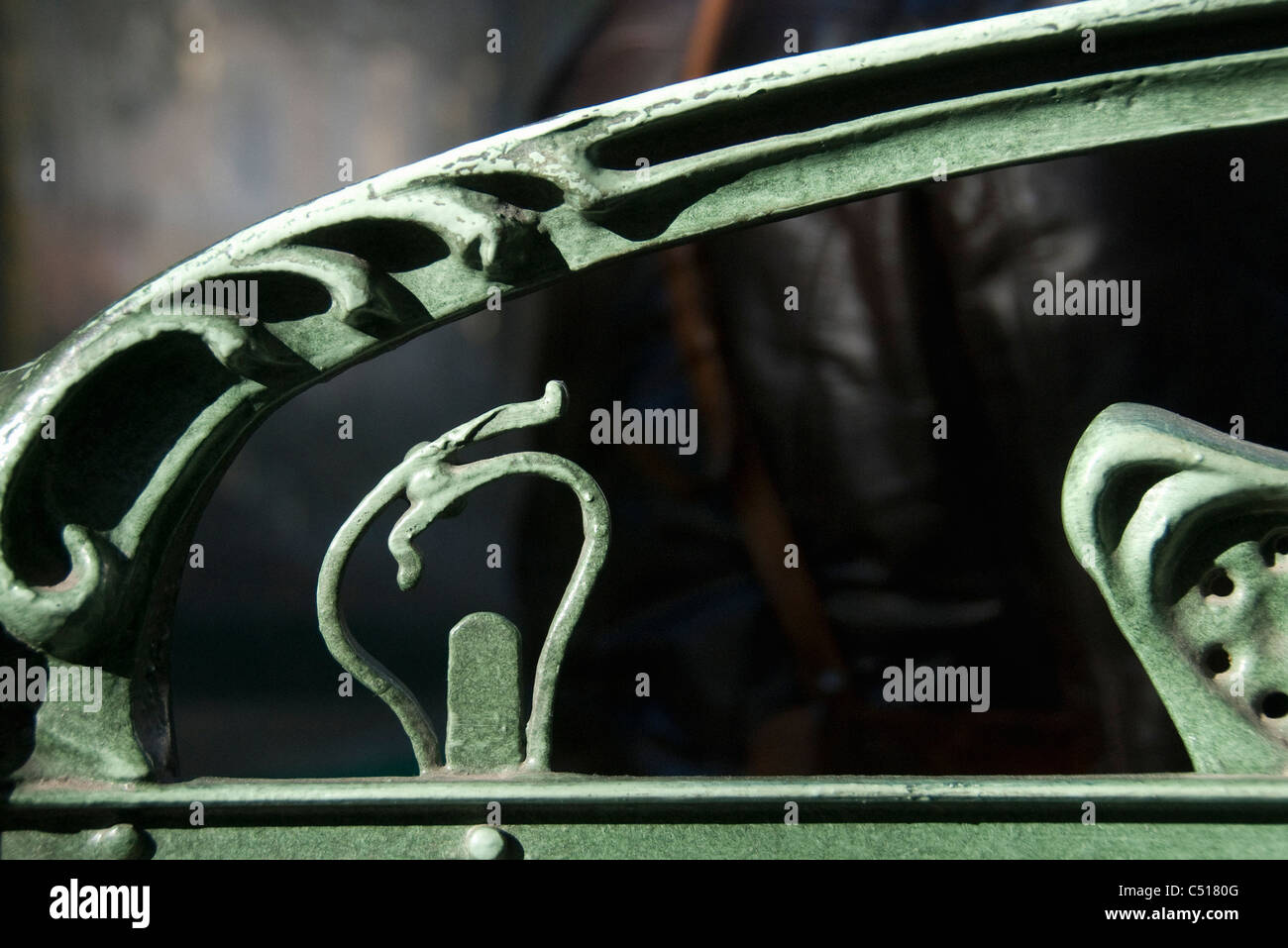 Wrought iron railing - Stock Image