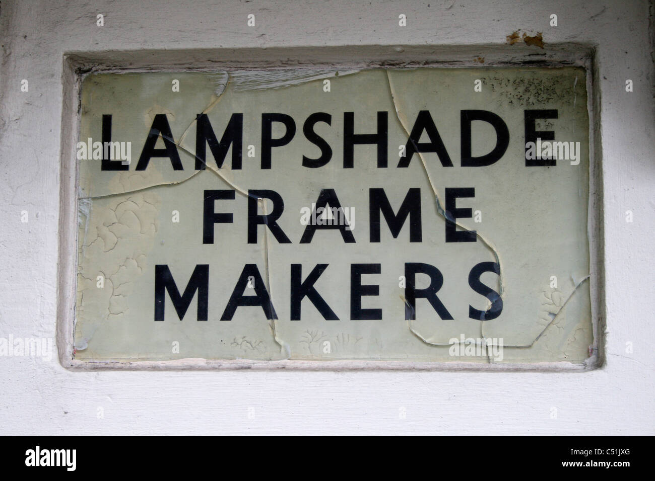 Lampshade and frame makers sign Stock Photo: 37530824 - Alamy