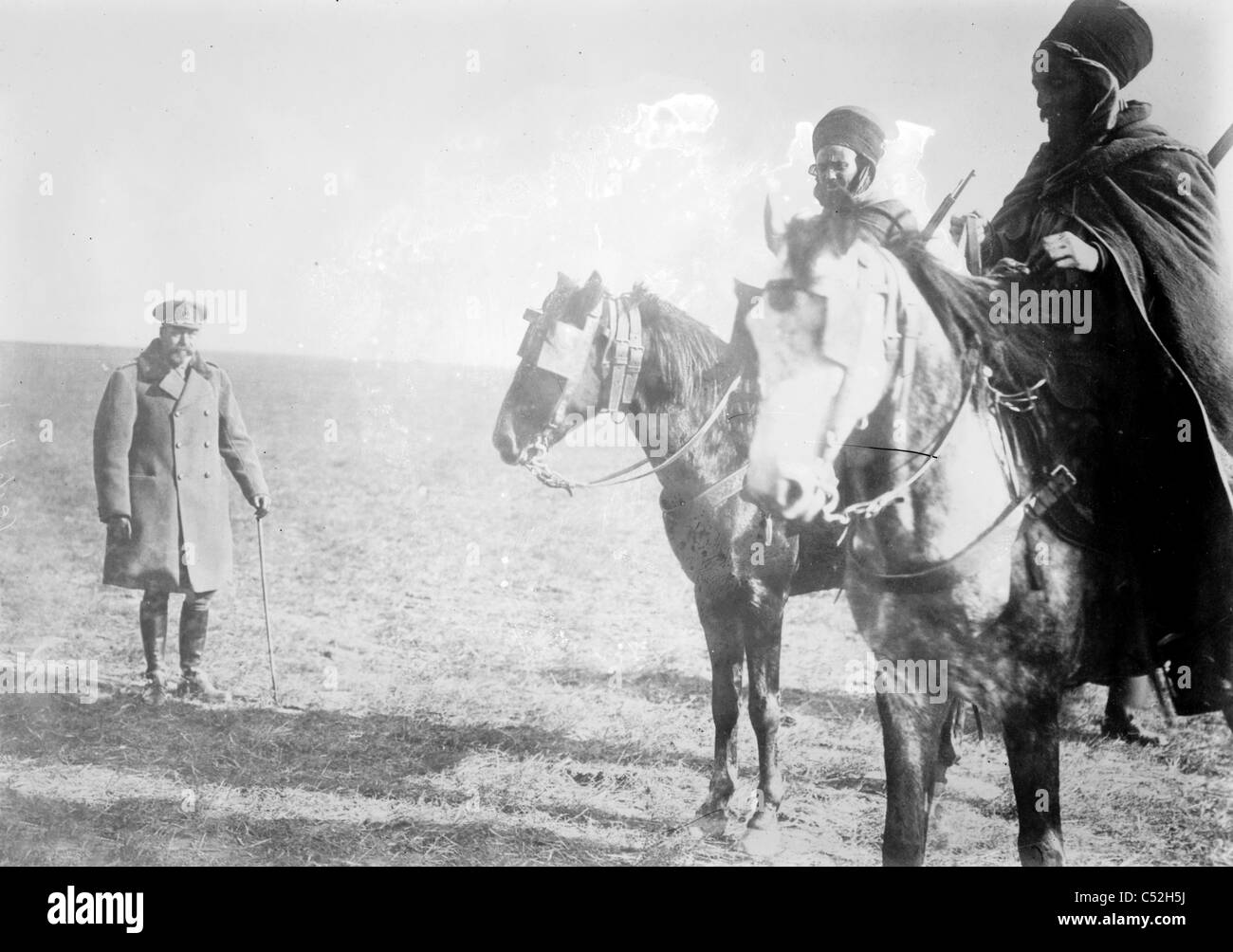 King George in France, 1915 - Stock Image