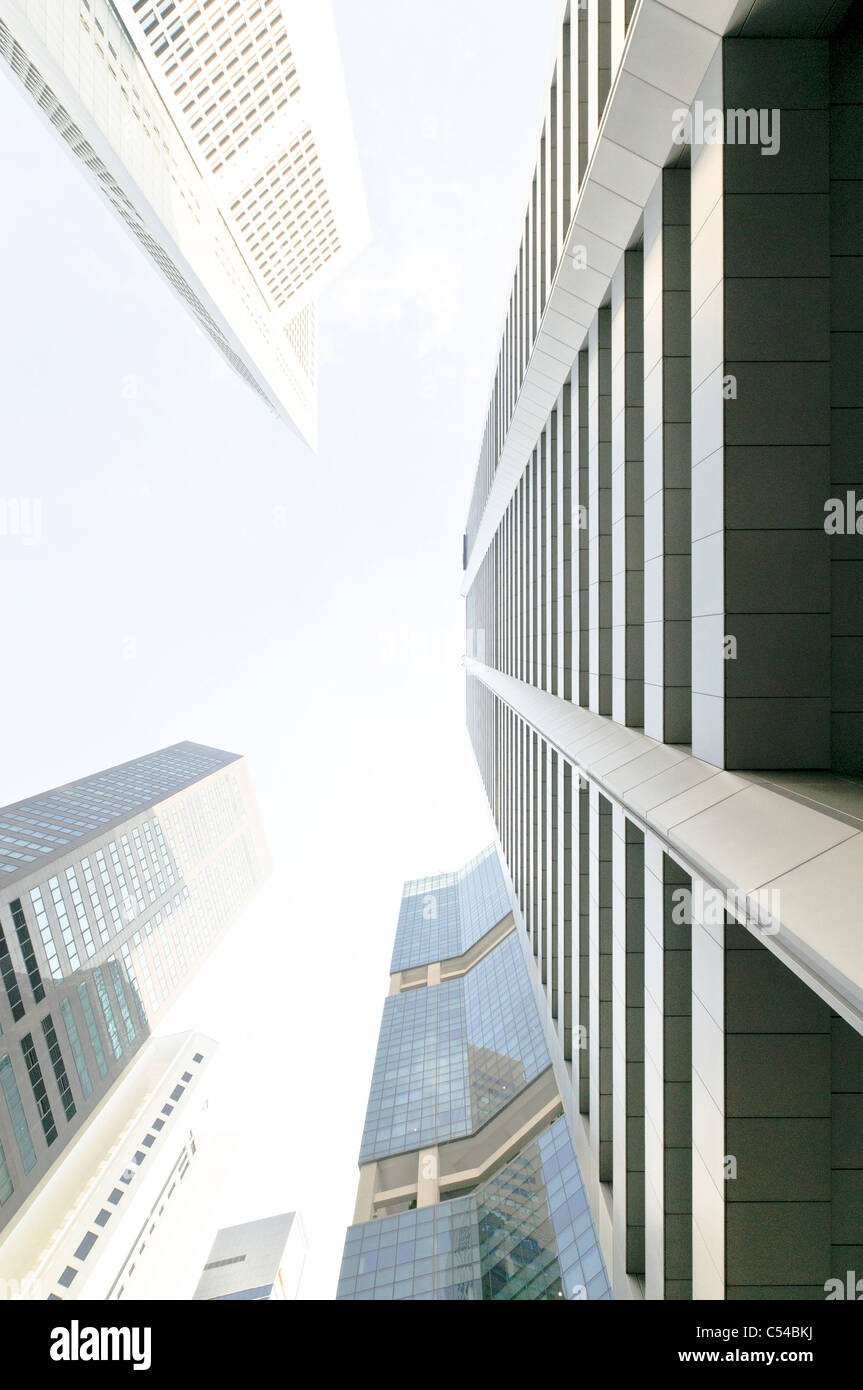 Skyscrapers of the financial district, central business district, creative, Singapore, Southeast Asia, Asia Stock Photo