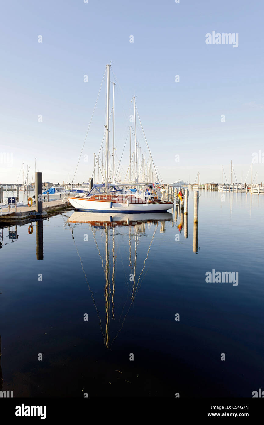 Sailing yachts, maritime, lifestyle, marina, Hohe Duene Yachting and Spa Resort, Baltic Sea, Rostock Warnemuende - Stock Image