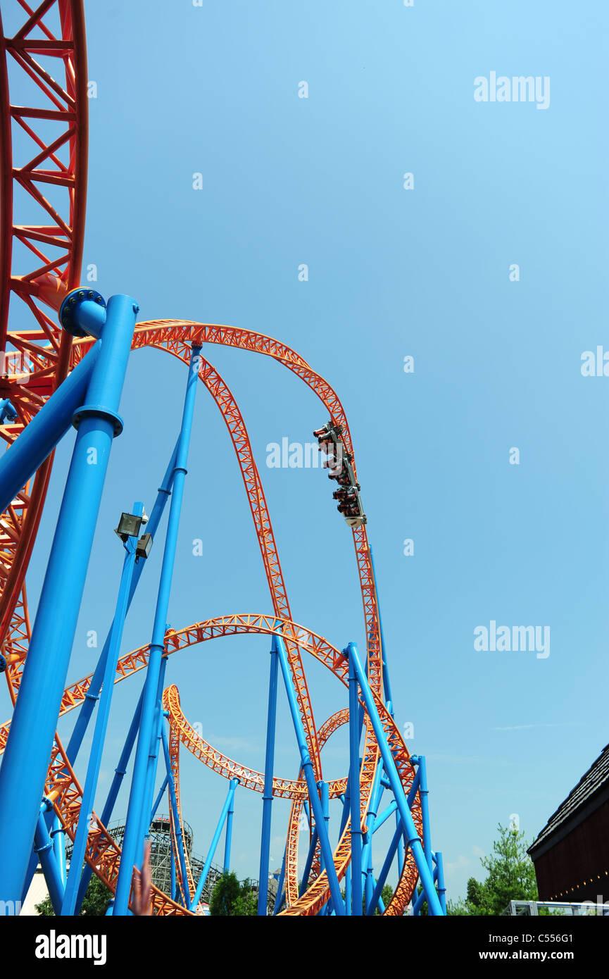USA Hershey PA Pennsylvania Hershey Park  roller coaster rollercoaster Fahrenheit Stock Photo
