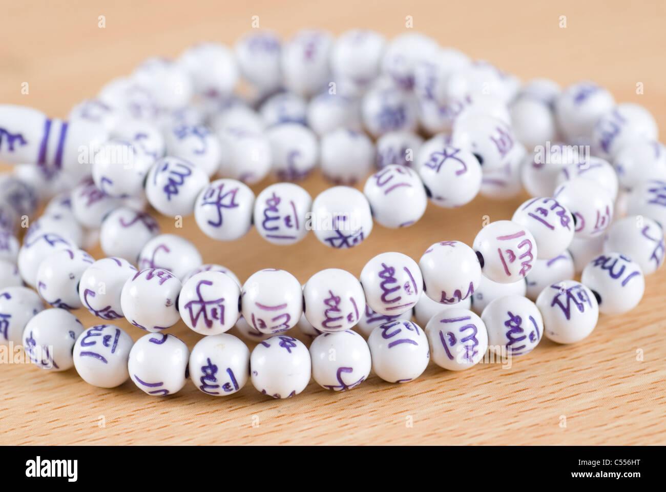 Islamic praying beads tasbih - Stock Image