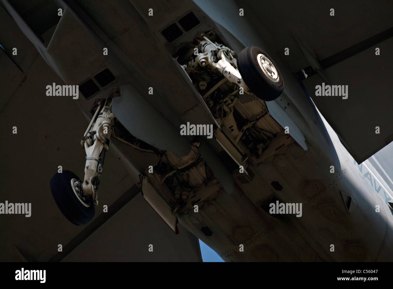 FA-18 Hornet demonstrating at an airshow, Arkansas, USA - Stock Image